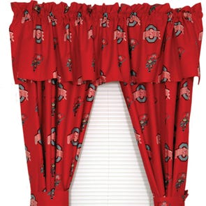 College Covers Ohio State University Curtain Panel 63 Inch