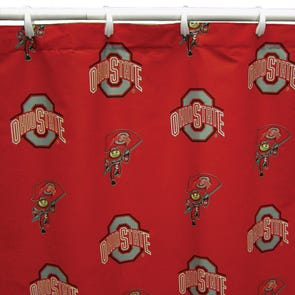 University of Nebraska Printed Shower Curtain by College Covers