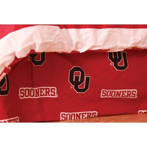 College Covers University of Oklahoma Bed Skirt