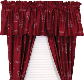 College Covers Texas A&M University Curtain Panel 63 Inch