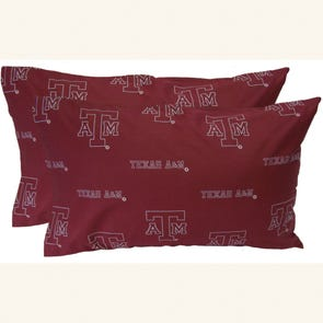 College Covers Texas A&M University Pillowcase Pair