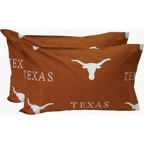 College Covers University of Texas Standard Pillowcase Pair