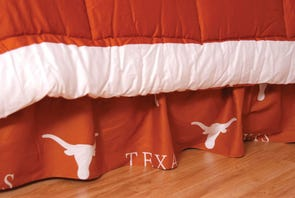 College Covers University of Texas Printed Dust Ruffle