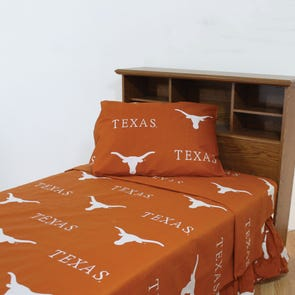 College Covers University of Texas Printed Sheet Set