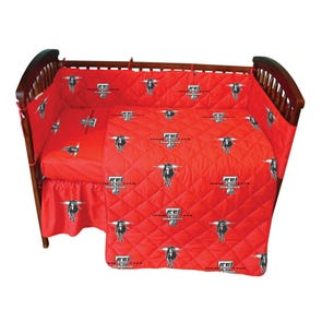 College Covers Texas Tech University Crib Set