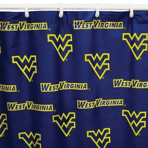 UNC Printed Shower Curtain by College Covers