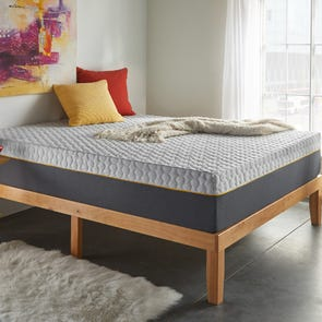 Queen Corsicana Early Bird 12 Inch Memory Foam Bed in a Box Plush Mattress