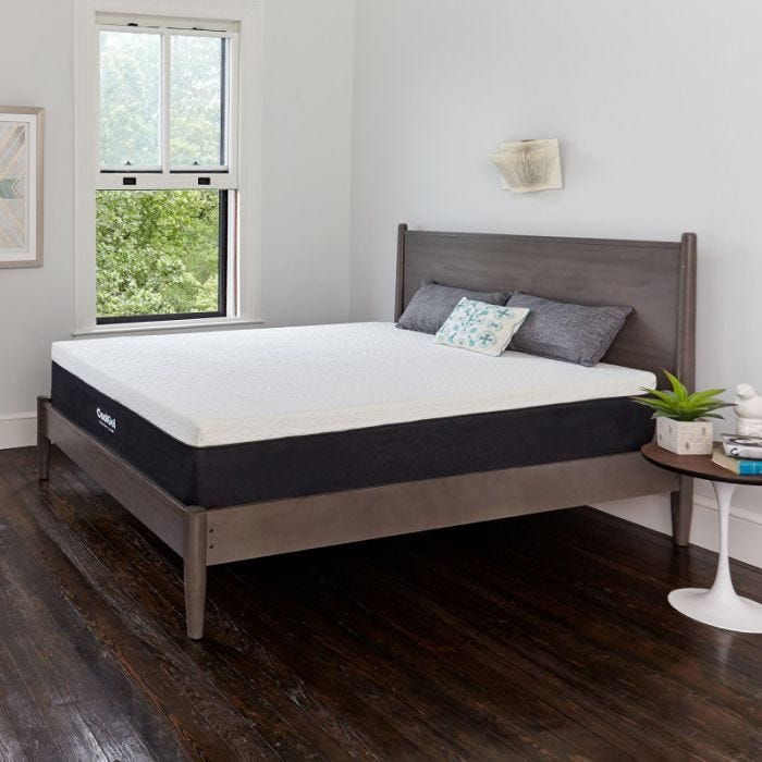 queen classic brands cool gel 12 inch ventilated gel memory foam mattress - Memory Foam Mattress