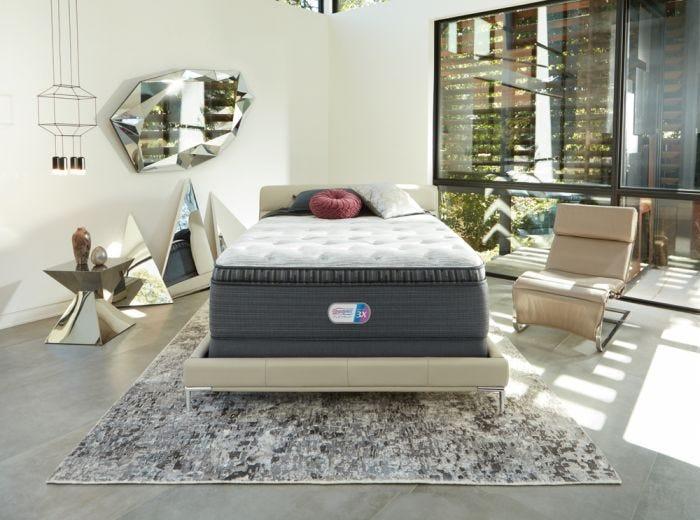 Queen Simmons Beautyrest Platinum Haven Pines Plush Pillow Top Mattress