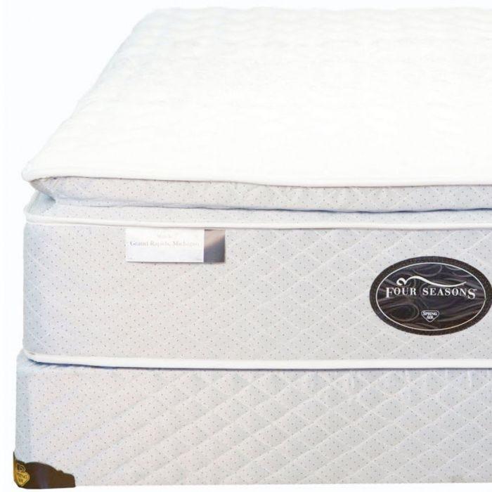 Full Spring Air Back Supporter Four Seasons Athena Plush Pillowtop Mattress