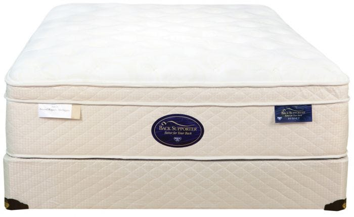 Queen Spring Air Back Supporter Latex Sunset Euro Top Mattress