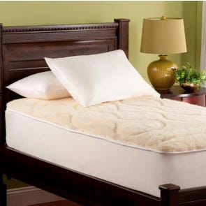 Downright Luxury Wool Twin Mattress Pad in Natural Wool