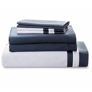 Downright Vilanova 4 Piece Queen Sheet Set in Hale Navy