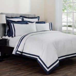 Downright Vilanova Standard Pillowcases in Hale Navy