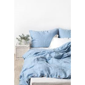 Dreamtex Organics 2 Piece Twin Duvet Cover Set in Steel Blue