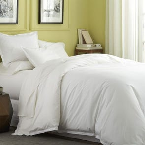 Dreamtex Organics 2 Piece Twin Duvet Cover Set in White