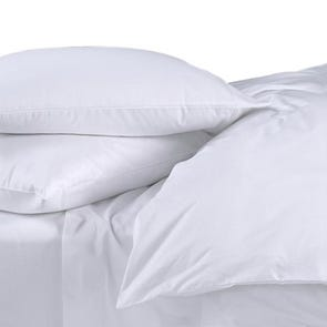 Dreamtex Organics 3 Piece Full/Queen Duvet Cover Set in White