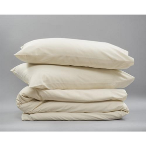 Dreamtex Organics 3 Piece King Duvet Cover Set in Natural