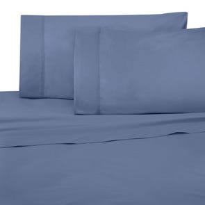 Dreamtex Organics 3 Piece King Duvet Cover Set in Steel Blue