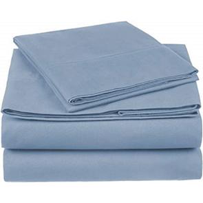 Dreamtex Organics 4 Piece Twin Sheet Set in Steel Blue