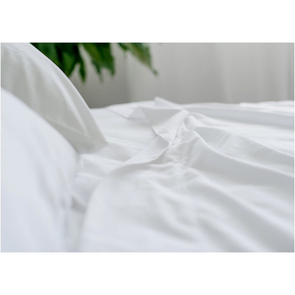 Dreamtex Organics 4 Piece Twin Sheet Set in White