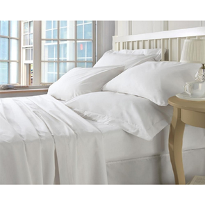 Dreamtex Organics 6 Piece Full Sheet Set in White