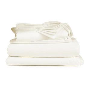 Dreamtex Organics 6 Piece Queen Sheet Set in White