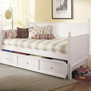Fashion Bed Group Casey Daybed in Ivory with FREE Trundle