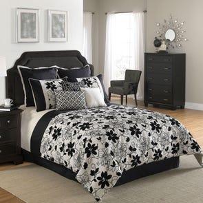 Hallmart Ebony and Ivory Comforter Set