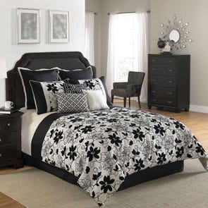 Hallmart Ebony and Ivory Comforter Set