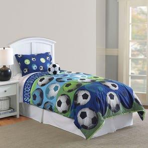 Hallmart Kids Soccer Blue Comforter Set