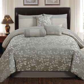 Hallmart Platinum Leaves Comforter Set