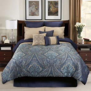 Hallmart Raymond 9 Piece Queen Comforter Set