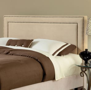 Hillsdale Furniture Amber Fabric Upholstered Headboard in Buckwheat Queen Size