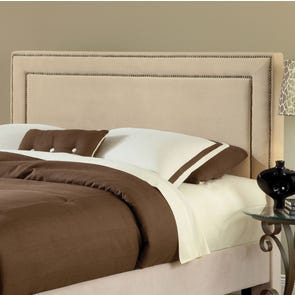 Hillsdale Furniture Amber Fabric Upholstered Headboard in Buckwheat King Size