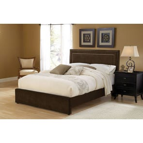 Hillsdale Furniture Amber Fabric Upholstered Headboard in Chocolate King Size