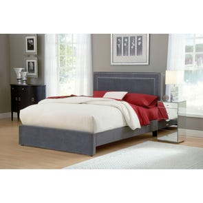 Hillsdale Furniture Amber Fabric Upholstered Headboard in Pewter King Size