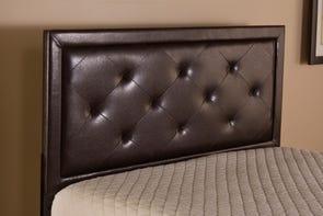Hillsdale Furniture Becker Headboard in Brown Faux Leather Twin Size