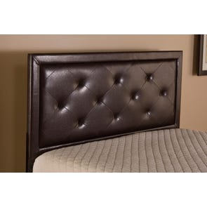 Hillsdale Furniture Becker Headboard in Brown Faux Leather Full Size