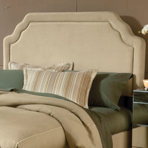 Hillsdale Furniture Carlyle Fabric Upholstered Headboard in Buckwheat King Size