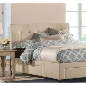 Hillsdale Furniture Duggan Fabric Upholstered Headboard with Bed Frame Twin Size