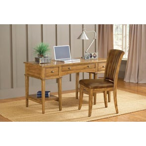 Hillsdale Furniture Gresham Desk with Chair in Oak