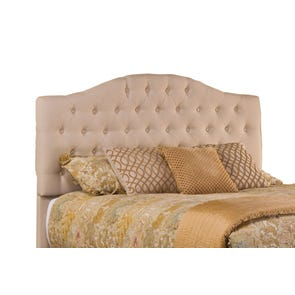 Hillsdale Furniture Jamie Upholstered Headboard with Bed Frame King Size