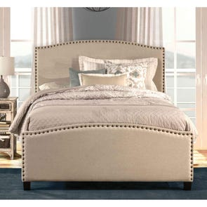 Hillsdale Furniture Kerstein Fabric Upholstered Bed in Light Taupe Twin Size