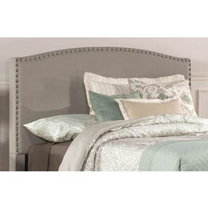 Hillsdale Furniture Kerstein Fabric Upholstered Headboard with Bed Frame in Dove Gray Full Size