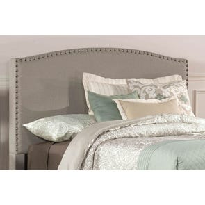 Hillsdale Furniture Kerstein Fabric Upholstered Headboard in Dove Gray Queen Size