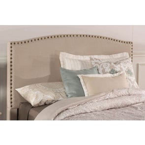 Hillsdale Furniture Kerstein Fabric Upholstered Headboard in Light Taupe King Size