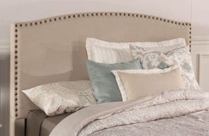 Hillsdale Furniture Kerstein Fabric Upholstered Headboard in Light Taupe Queen Size