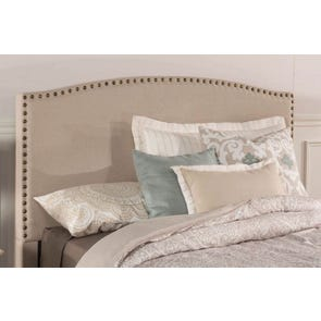Hillsdale Furniture Kerstein Fabric Upholstered Headboard in Light Taupe Twin Size