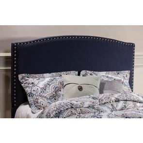 Hillsdale Furniture Kerstein Fabric Upholstered Headboard in Navy Linen Queen Size